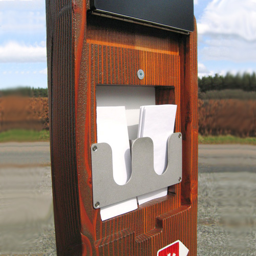 Leaflet dispenser, inside